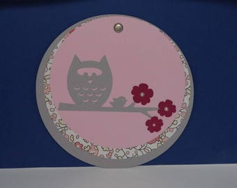 Share circle small beaded flowers owls