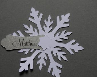 Brand instead to plate White Snowflake Christmas