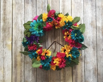 Summer Grapevine Wreath -  Daisy Wreath - Sunflower Wreath - Summer Wreath - Wildflower Wreath - Spring Wreath - Front Door Wreath