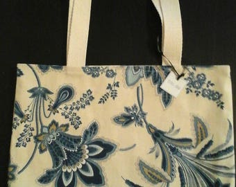 Small Tote-Blue Floral