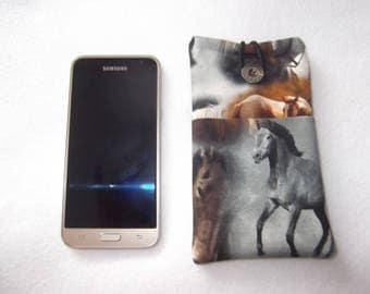 Cell phone case cell phone sock horse