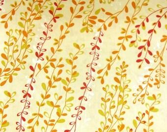 Tissu Patchwork Branchages d'automne stylisés sur fond beige