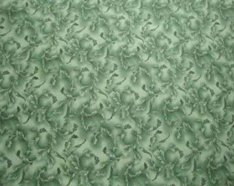 Green Tonal Scroll-Choice Fabrics-BTY