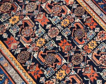 "3'1""x4'5"" Vintage Persian Afshar Rug"