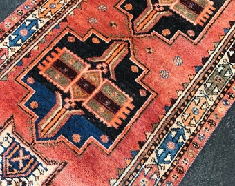 "3'10""x14' Vintage Persian Shiraz Runner"