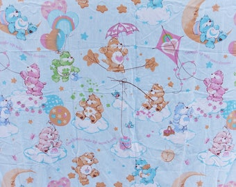 Vintage Care Bears Twin Sheet Set - Flat adn Fitted