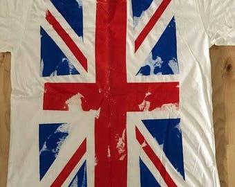 Uk British Union Jack Flag Punk Rock T-Shirt XL
