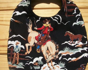 Cowboy Western Toddler Baby Bib Ready To Ship