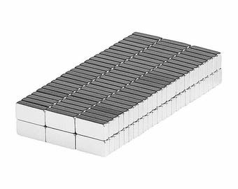 1/4 x 1/8 x 1/16 Inch Neodymium Rare Earth Block Magnets N48 (150 Pack)