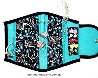 Pretty Paisley Portable Jewellery Holder