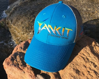 Aqua Blue Yankit Fishing Cap