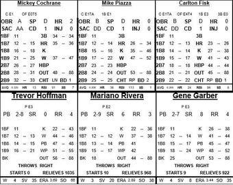 Statis Pro Baseball Cards