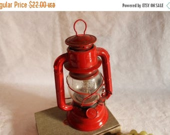 Summer Sun Sale Never Used!  Dietz No. 50 Red Oil Lantern with Dietz Glass - Made in Hong Kong
