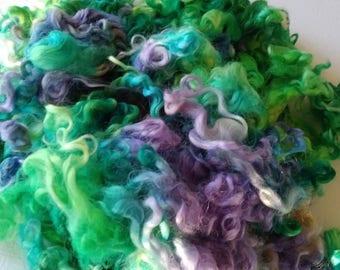 Teeswater Locks - Curls - Hand Dyed Locks - Spinning - Doll Hair - Lockspinning - Felting - Hydrangea - Wool Locks - Troll Hair - Locks