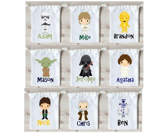 Star Wars Favor Bags Star Wars Party Favors Personalized Party Gift Bags Loot Bags Goodie Bags Drawstring Pouch Birthday Party Favors