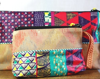 """Small toiletry bag in canvas """"Sing-Sing"""""""