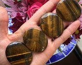 tiger eye palm stone , tiger eye palmstone, tigers eye palm stone, pocket stone, worry stone
