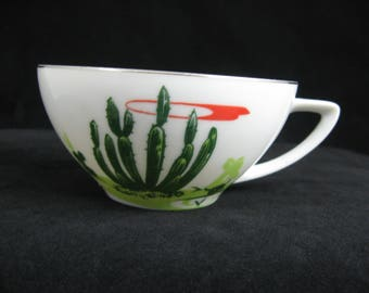 Blakely Arizona Cactus China Cup Only Organ Pipe Cactus Platinum Trim Arizona Gas Station Promotion