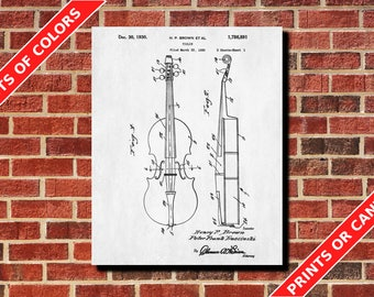 Violin Patent Print Design Musical Instrument Poster Art Violin Blueprint Violinist Gift Musician Gift Home Decor