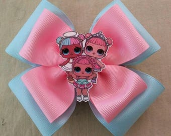 Pink and Blue LOL Surprise Doll Hairbow