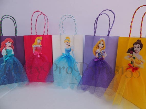 10 Pieces Disney Princess Birthday Goody Favor Glitter Tutu