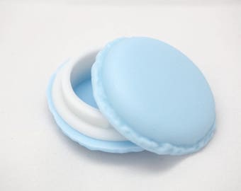 Light blue button for decoration or 42mm packaging box
