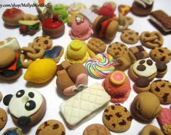 Mystery bag of dollhouse miniature assorted food polymer clay handmade dollhouse miniatures for 1:6 scale dolls
