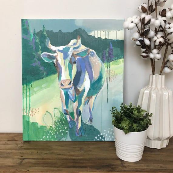 """Cow Giclee Print- """"Isla"""""""