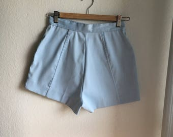 Baby blue high waisted shorts
