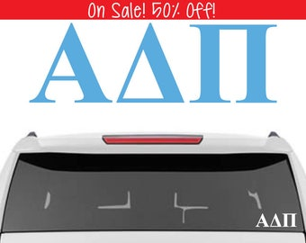 50% OFF!  Alpha Delta Pi Decal   A D Pi Decal   Sorority Car Decals, Sorority Vinyl Decal, Sorority Laptop Decal, Sorority Decal