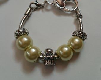 Yellow of kids charm bracelet with Angel ref 447