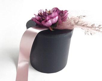 Luxury gift box, 2 sizes, 3 colors, round box, luxury box, black gift box, bridesmaid gift box, Christmas gift box, groomsmen gift box, gift