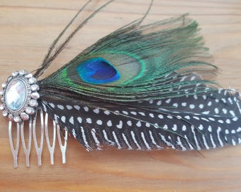 Feather Bridal Hair Comb