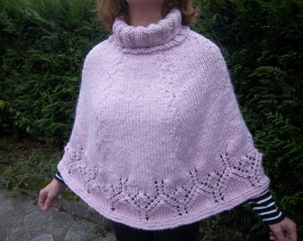 Poncho woman wool warm