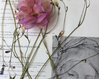 Silk flower brooch-barrette 'Petals&Poems'