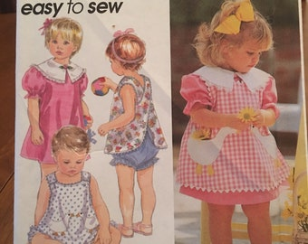1996 Simplicity Pattern #8948 Toddlers Size 1/2, 1, 2, 3 & 4