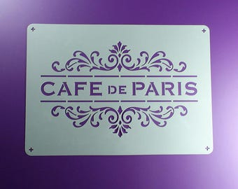 Template Cafe de Paris ornament Lettering-BO62