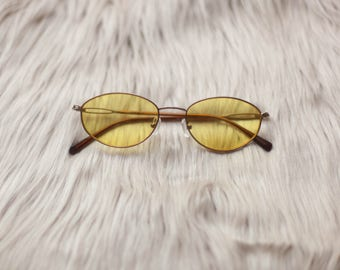 Yellow Vintage Sunglasses / Yellow Lenses