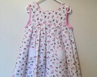 small pink white girl dress