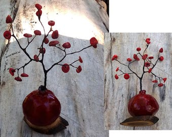 Tree, fertility and good fortune pomegranate tree, good luck tree, home decor, fortune tree from Armenian - https://youtu.be/onHCgEnafdw