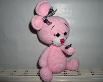 Amigurumi yarn kind pink rabbit
