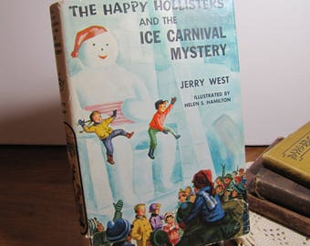 Vintage Book - The Happy Hollisters and the Ice Carnival Mystery - Jerry West