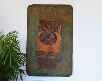 Vintage Sir Walter Raleigh Cigarette Sign