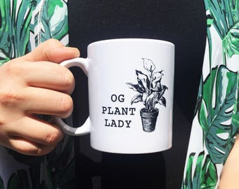 OG Plant Lady | 11 oz Ceramic Coffee Mug | Coffee Cup