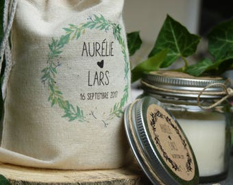 10 wedding guest gifts - candle