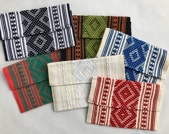 Authentic Mexican Clutches (Hand woven and sewn)