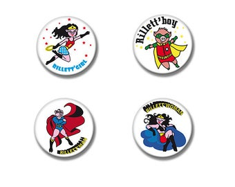 4 badges Super Heroes of the Sarthe