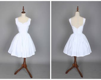 Elizabeth Dress in Solid White