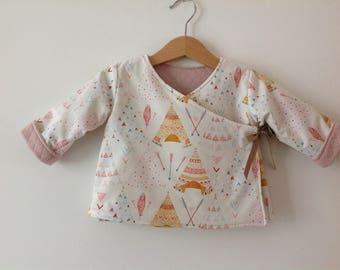 Kimono jacket reversible baby - 12 months