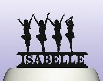 Personalised Acrylic Cheerleader Cake Topper Decoration Souvenir Gift